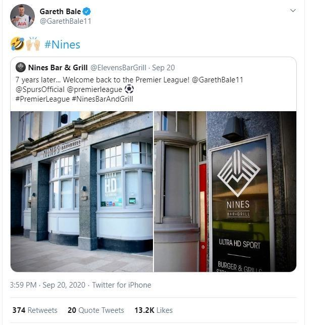 Gareth Bale in thinly-veiled swipe at Real Madrid after changing name of his Elevens Bar and Grill to 'Nines' - Bóng Đá